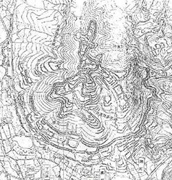 多気城跡配置図